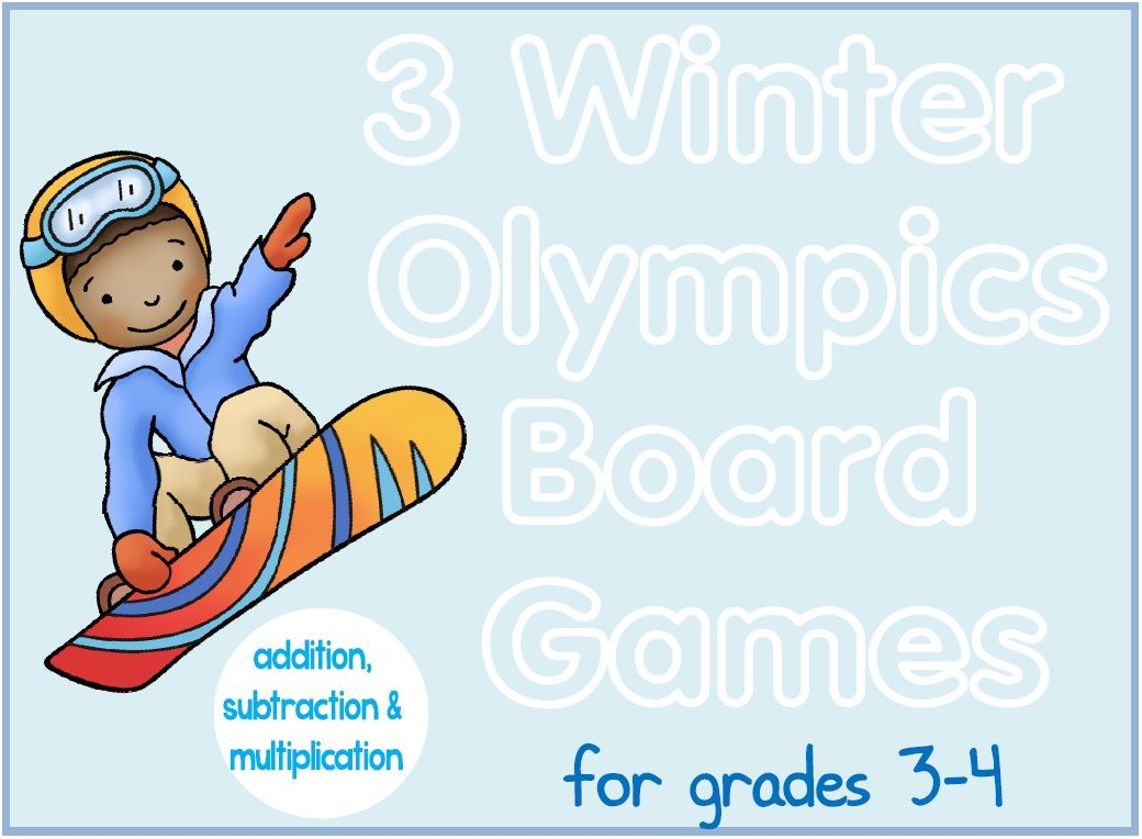 Winter Olympics Math Board Games. Three printable games for 2-6 ...