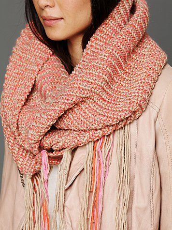 Loop Knit Fringe Scarf #freepeople