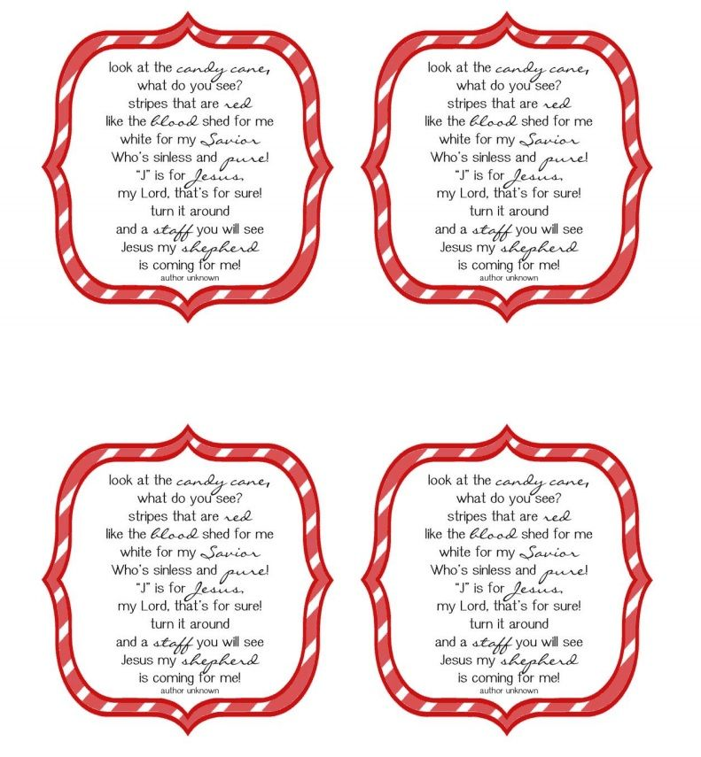 Candy Cane Poem Pdf Candy Cane Poem Candy Cane Gifts Candy Cane Story