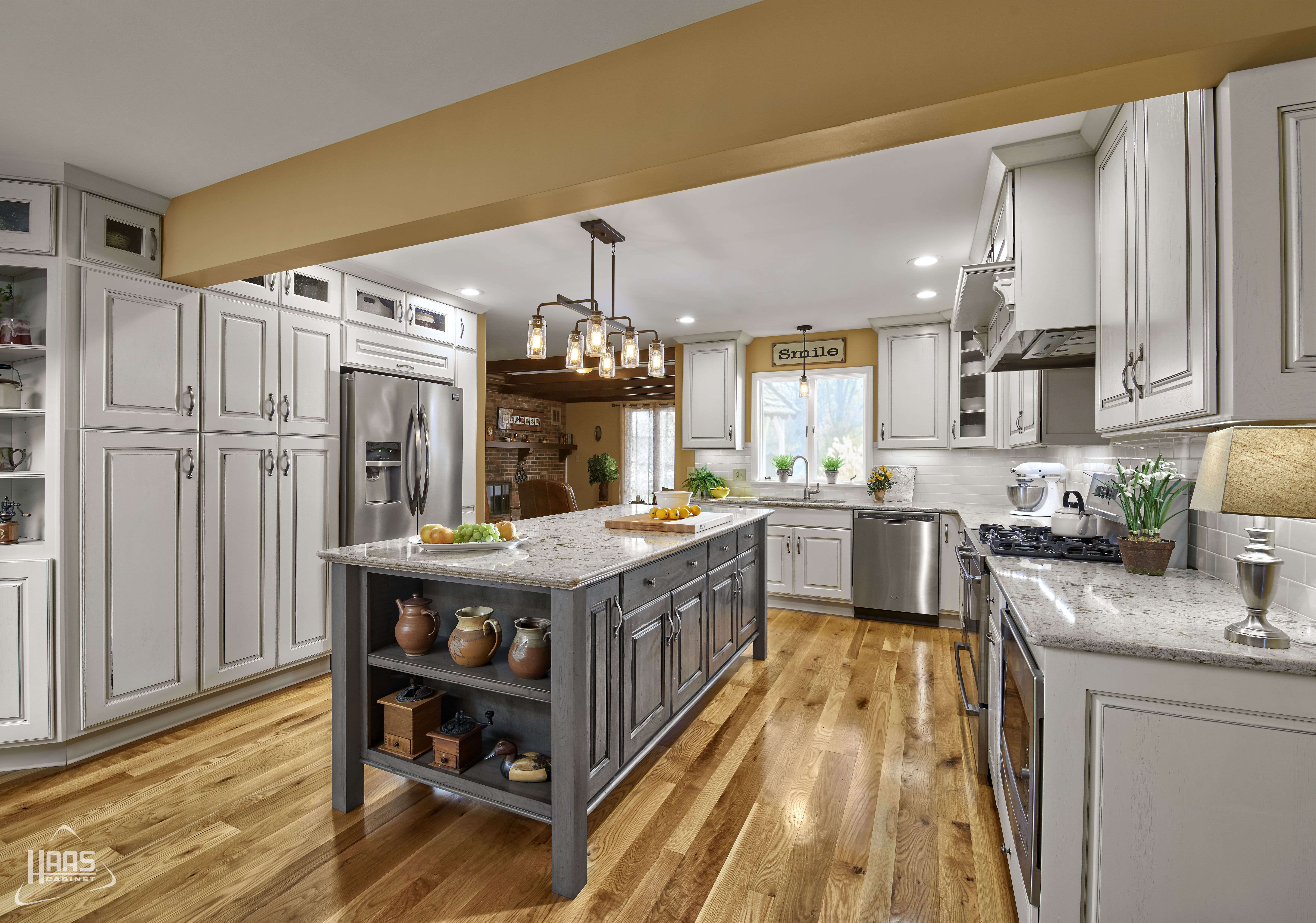 Door Style: Dover, Wood Species: Hickory, Finish: Whipped ...