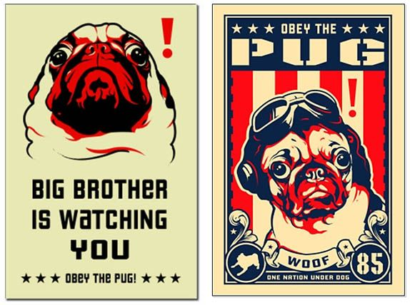 PUGS Fake Movie Poster iphone case