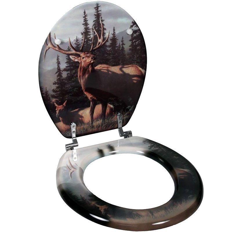 Elk Couple Standard Toilet Seat