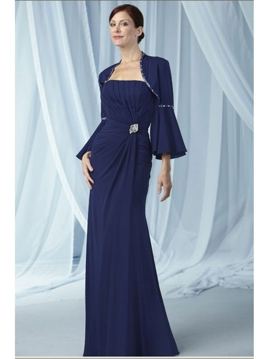 Sheath Long Sleeve Chiffon Mother Of The Bride Evening Dresses Wedding Guest Dress 99901060