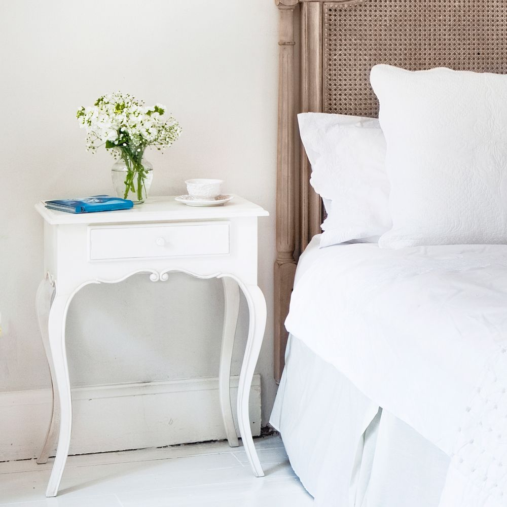 Bedroom Table provencal white bedside table | bedrooms, interiors and master bedroom