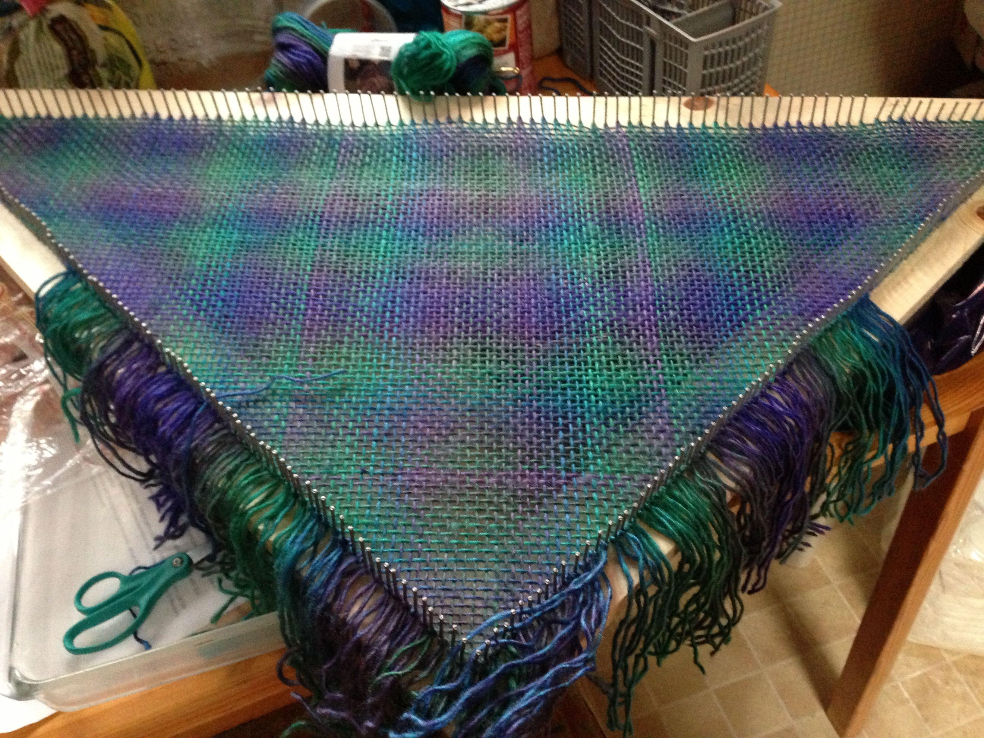 My First Tri Loom Project Tri Loom Pinterest
