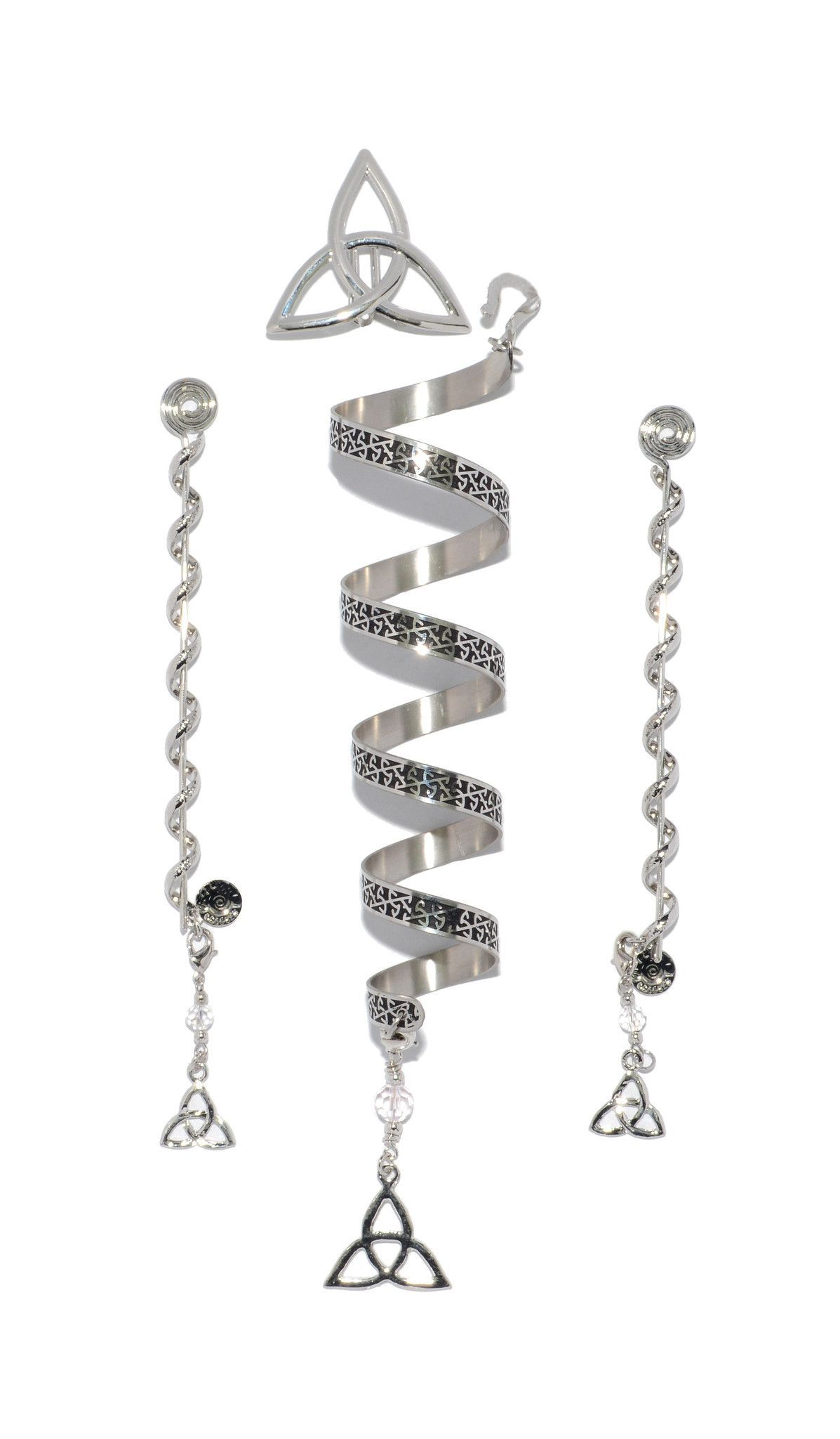 Celtic eternity stainless steel complete set 6 ponytail who says you have to be irish to wear our celtic eternity ponytail wraps these buycottarizona Image collections