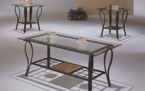 Remarkable Glass Iron Coffee Table Wrought Iron And Mm Veveled - Iron side table with glass top