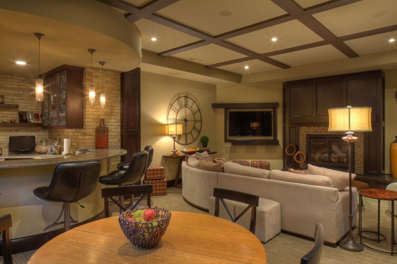 Transitional Basement By Udvarisolner Design Company Renovations Cool Basement Remodeling Milwaukee Exterior Interior