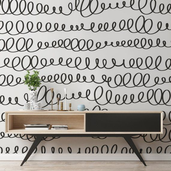 Wallpaper Removable Wallpaper Peel And Stick Wallpaper Etsy Removable Wallpaper Temporary Wallpaper Black And White Wallpaper