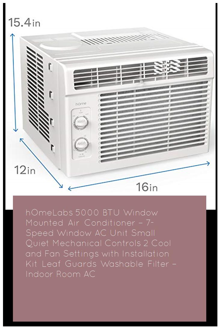 hOmeLabs 5000 BTU Window Mounted Air Conditioner 7Speed
