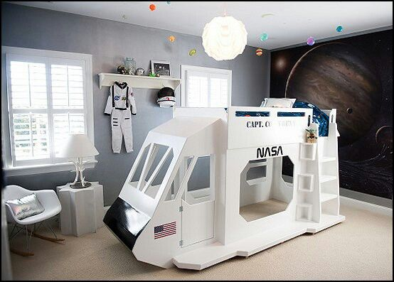 Spaceship Bunk Bed Outer Space Room Space Kids Room Space Themed Room