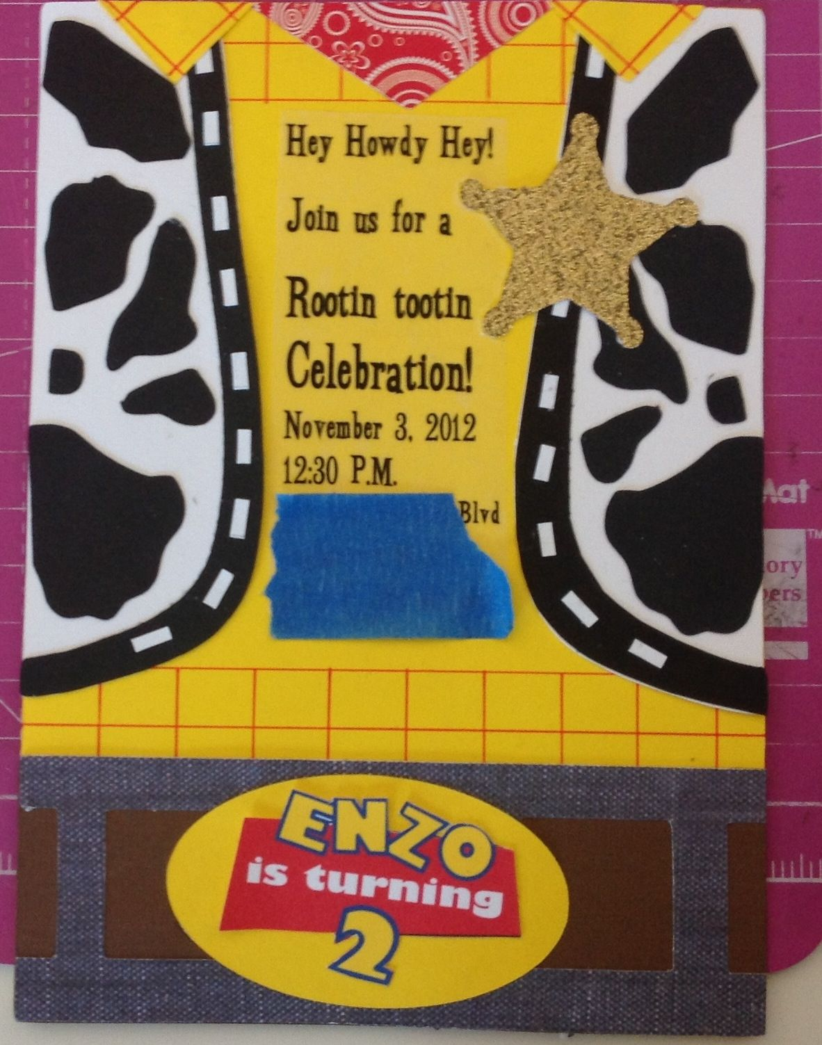 Woody invitation made from card stock . | Handmade by me ...