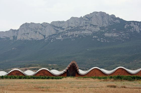 The cutting-edge architecture of the YSIOS winery in Rioja, by star architect Santiago Calatrava. #Spain #wine