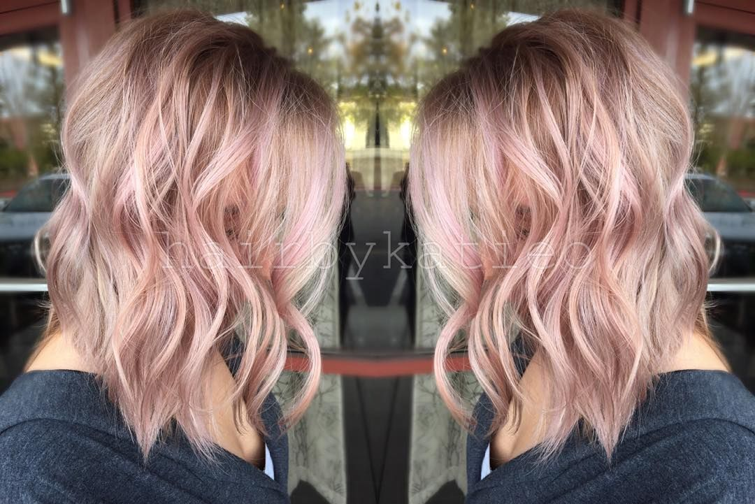 Antique Rose Hair Color Light Blonde Hair