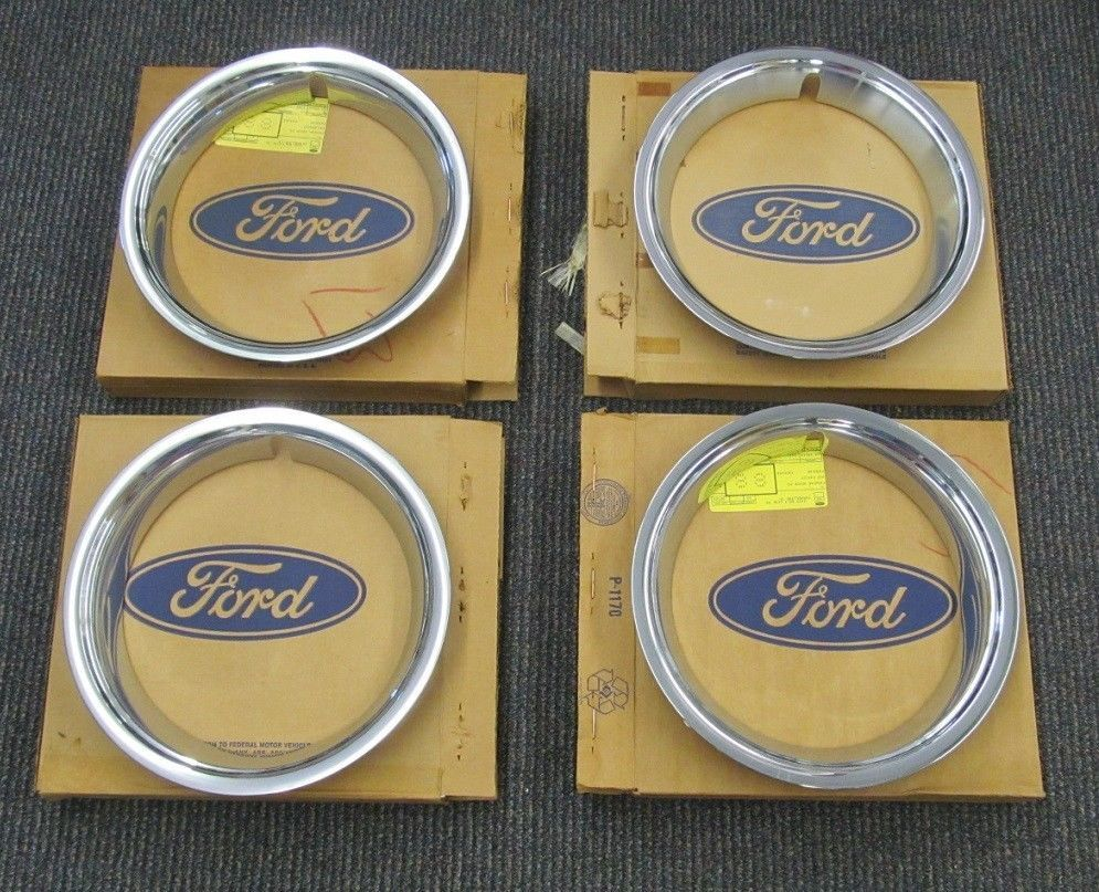 1966 Nos Mustang 14 Inch Styled Steel Wheel Beauty Trim Rings Trim Ring Steel Wheels Mustang