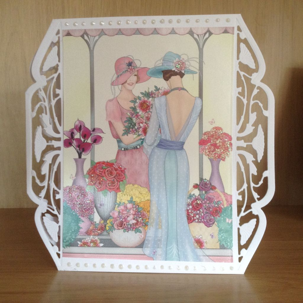 Handmade ladies card using hunkydory art deco little book and couture deco bo - Pinterest couture deco ...