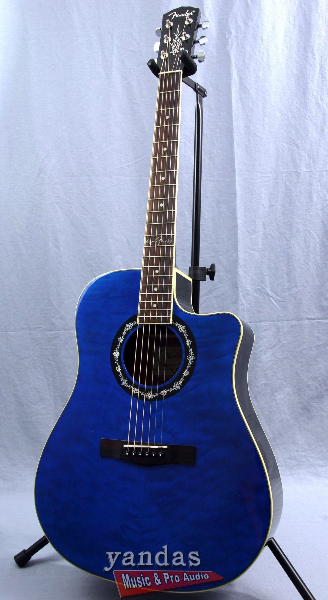 Fender T Bucket 300ce Cutaway Acoustic Electric Guitar Blue Acoustic Guitar Acoustic Electric Acoustic Electric Guitar