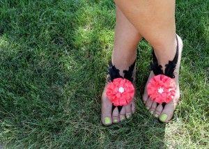 #DIY Adult Barefoot Sandals Tutorial #barefootsandal perfect for destination weddings or summer beach parties