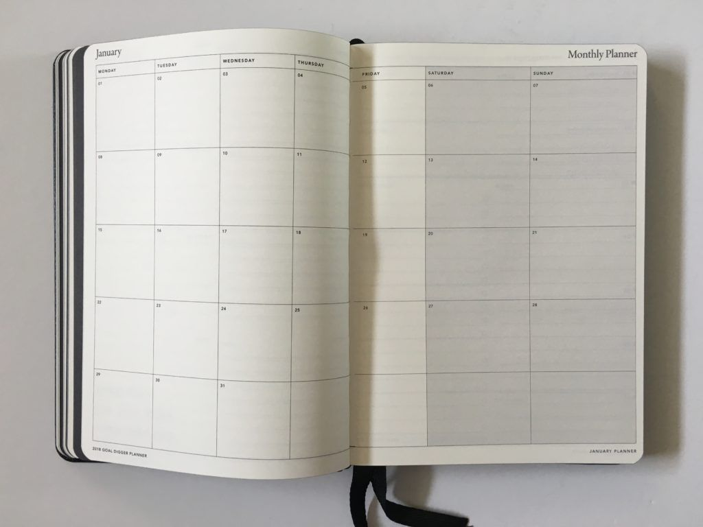 Mi Goals Planner Review Public Holidays Page Australian