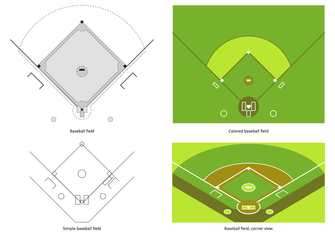 Pin By Conceptdraw On Sport Baseball