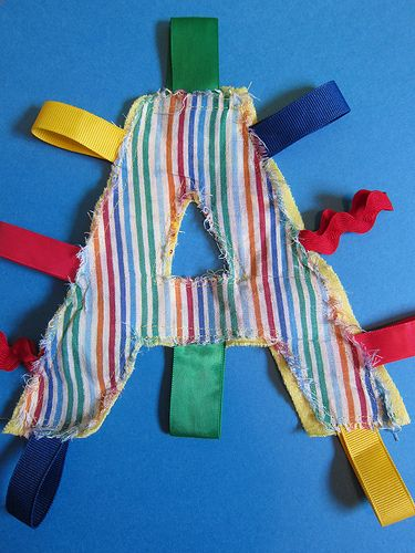 crinkly letter toy diy  you can use chip bags or wipey bags for crinkle material