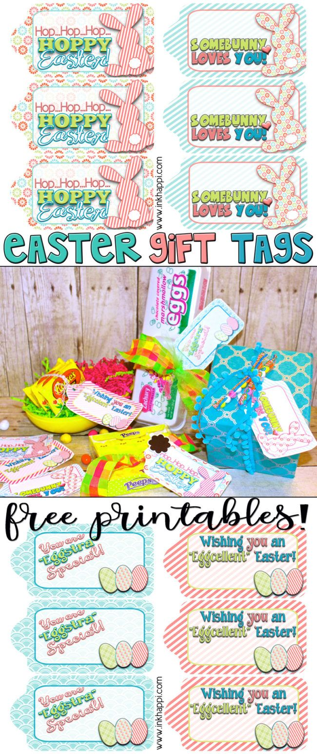 Easter gift tags to help wrap it pretty free printable easter love these cute fun free printable easter gift tags negle Choice Image