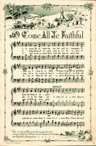 25+ Free Printable Vintage Christmas Sheet Music; Day 10