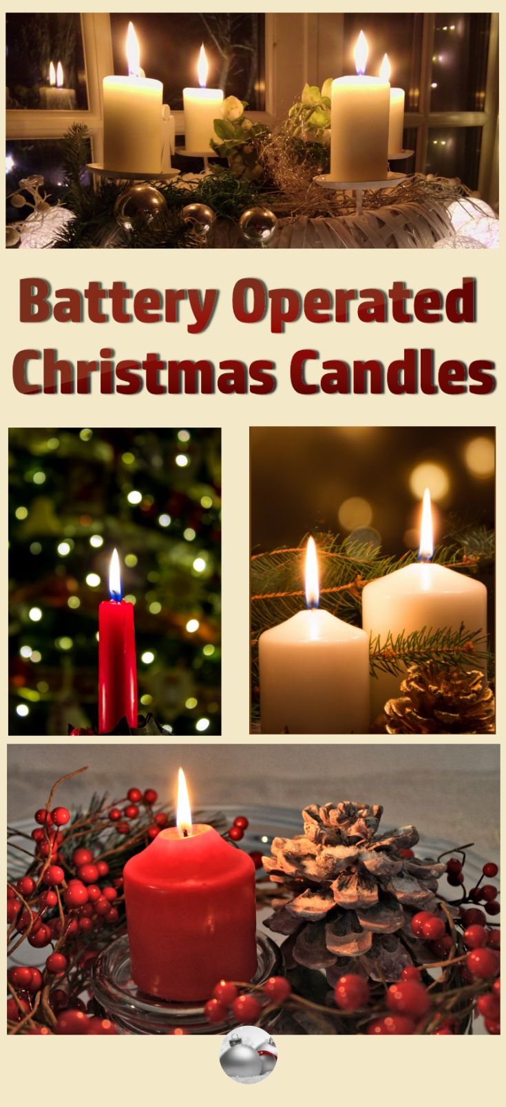 get the best battery operated christmas candles and you dont have to worry about wax dripping everywhere or fires these are great to use in centerpieces