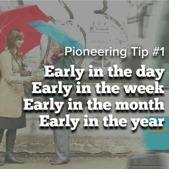 Dica de Pioneiro: Cedo no dia, Cedo na semana, Cedo no mês, Cedo no Ano