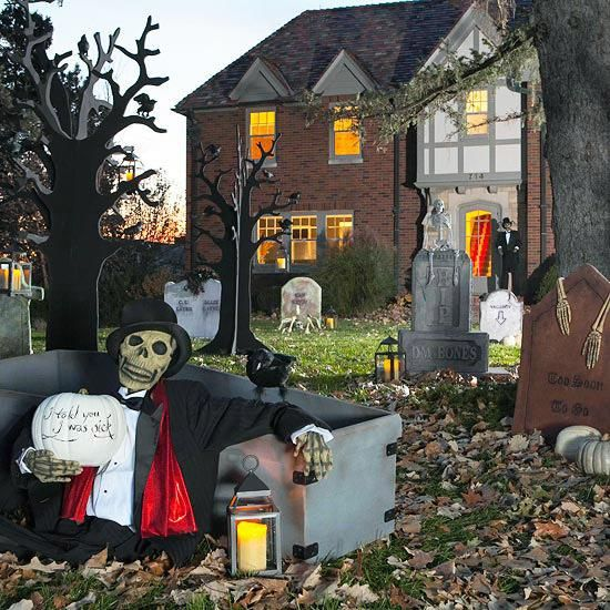 IDEAS  INSPIRATIONS Haunted Outdoor Halloween Decorations - how to make halloween decorations for yard