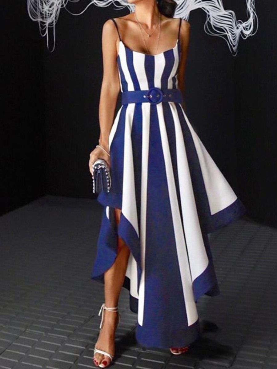 Spaghetti Strap Striped Evening Dresses Streettide Striped Evening Dresses Summer Formal Dresses Boho Summer Dresses [ 1200 x 900 Pixel ]