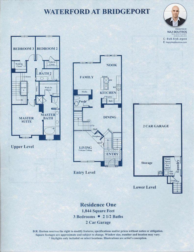 Bridgeportvalencia Waterford Residence 1 Floorplan Bridgeport Waterford First Home Owners