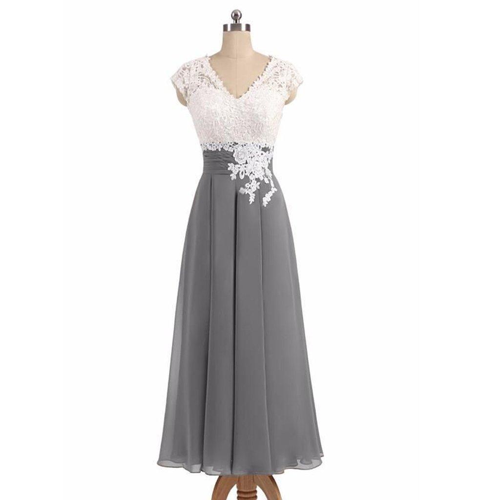 Long bridesmaid dress chiffon bridesmaid dress lace bridesmaid