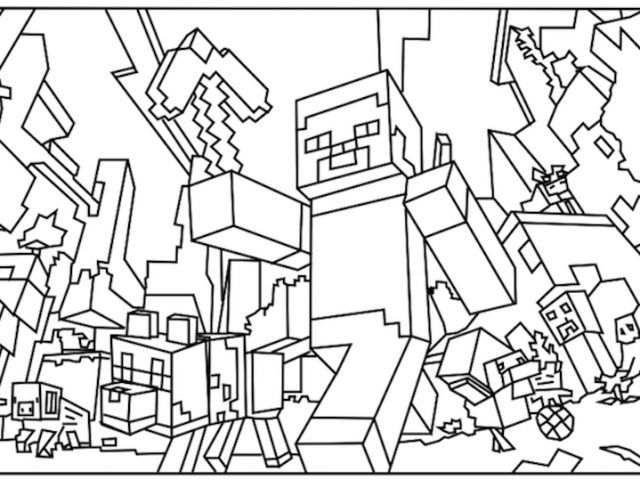 amazing printable minecraft coloring pages u az coloring pages by