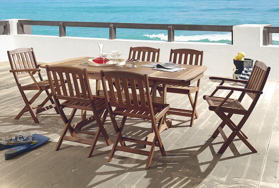 Découvrez nos tables et chaises de jardin en bois massif. | Jardin ...