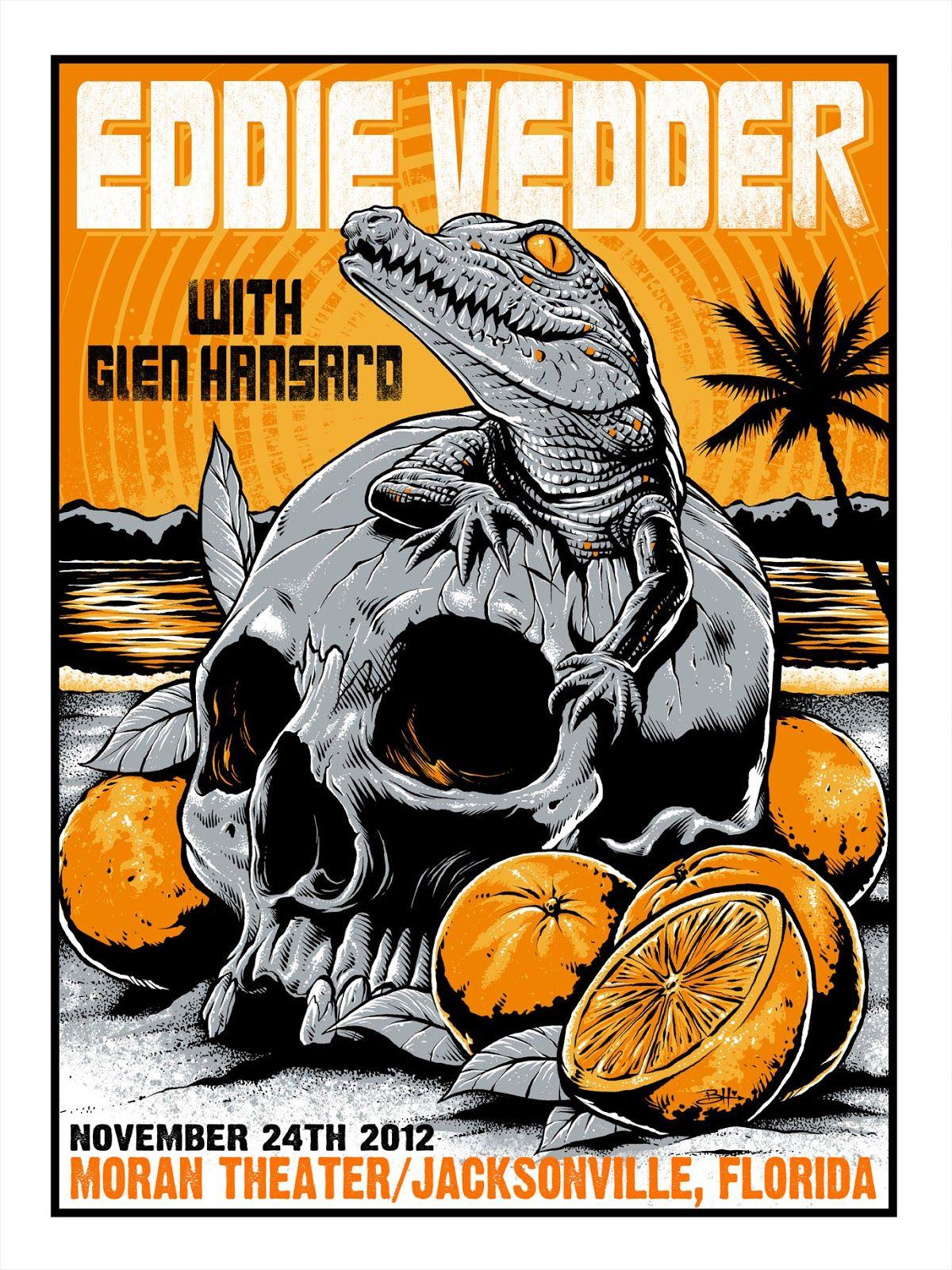 INSIDE THE ROCK POSTER FRAME BLOG: Eddie Vedder Jacksonville Poster ...