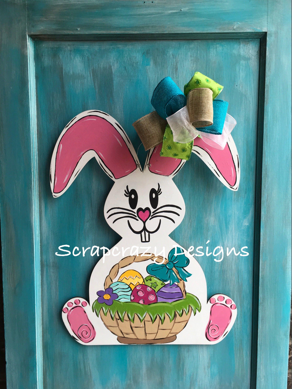 Easter Bunny Bunny Door Hanger Wood Door Hanger Easter Door Etsy Bunny Door Hanger Easter Door Hanger Wood Door Hangers
