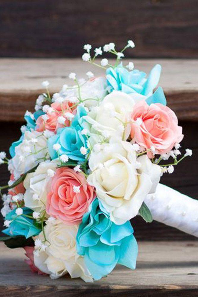 24 Wedding Bouquet Ideas Inspiration Peonies Dahlias Lilies Wedding Bouquets Sets Blue Wedding Flowers Blue Wedding Bouquet