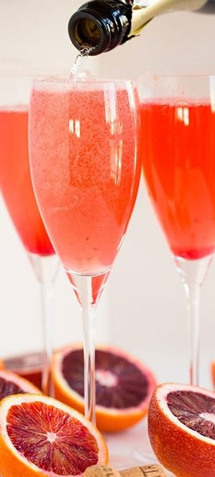 Blood Orange Bellinis - Table for Two