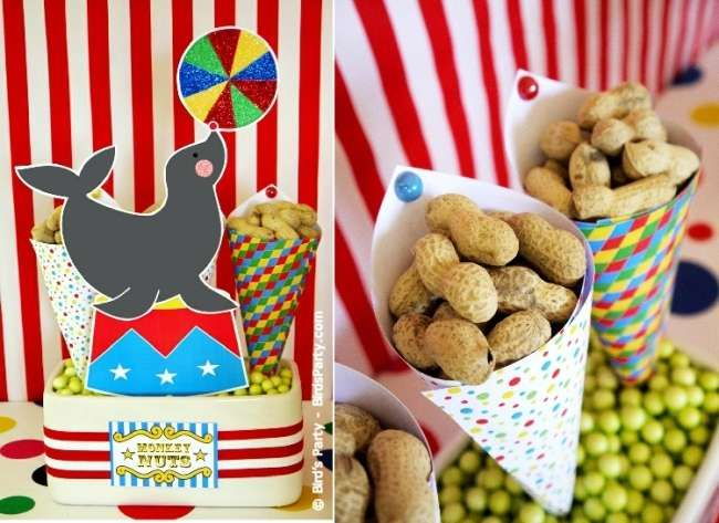 Joint Big Top Circus Carnival Inspired Birthday Party!! | CatchMyParty.com