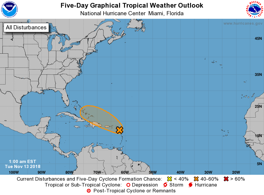 Atlantic 5 Day Gtwo Graphic National Hurricane Center Florida Hurricane Hurricane