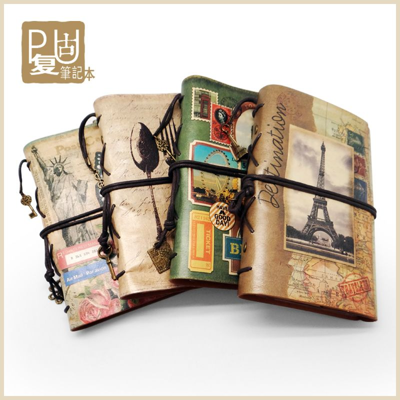 chancellery Super hot ! vintage DIY leather A6 Notebook Travel - meeting minutes