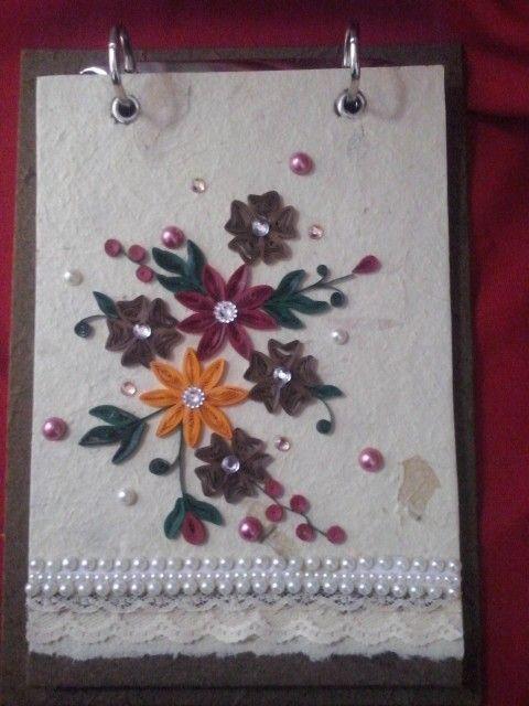 Bloquinho de papel artesanal quilling 6