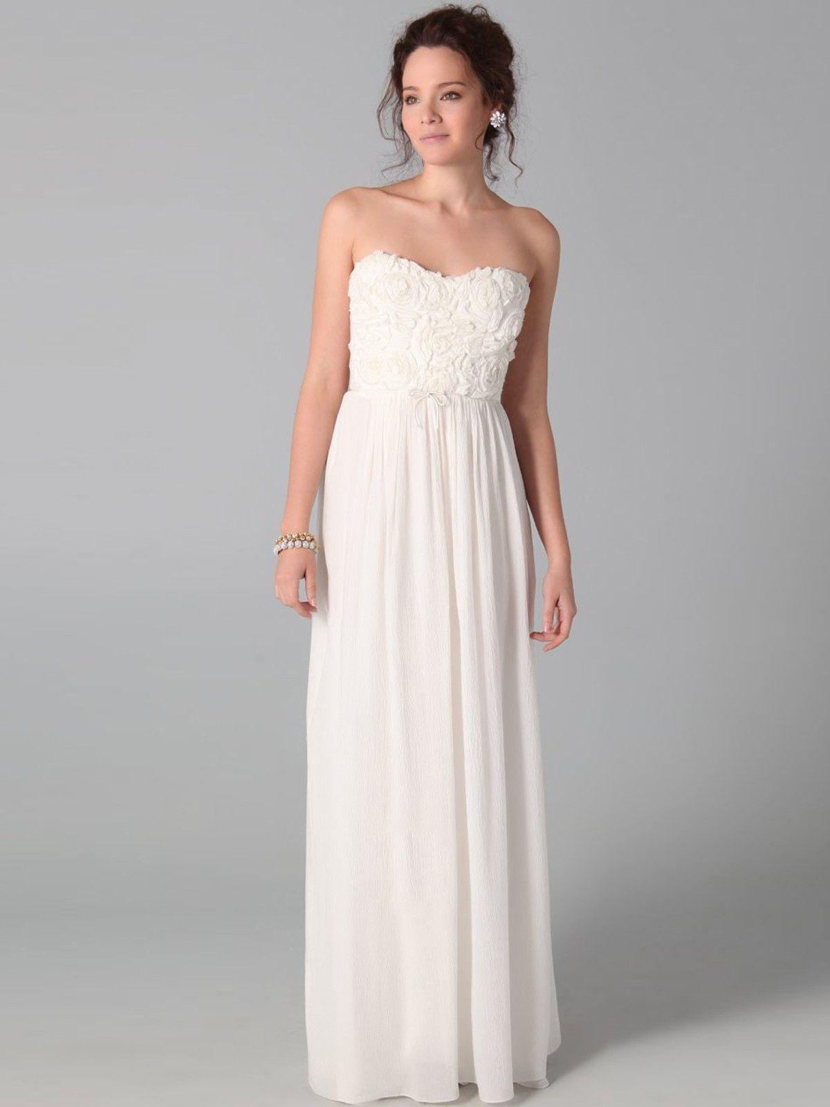 346704d4dbfb Elegant A-line Strapless Ruffles Sleeveless Floor-length Chiffon Dress