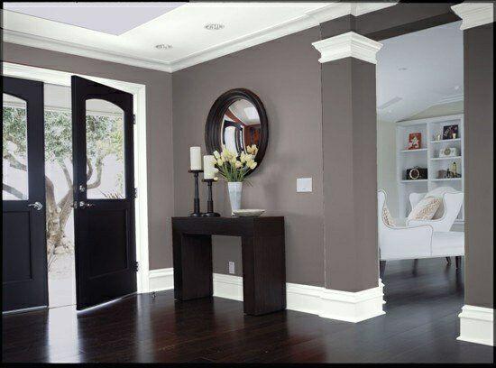dark woodgrey and white colour scheme