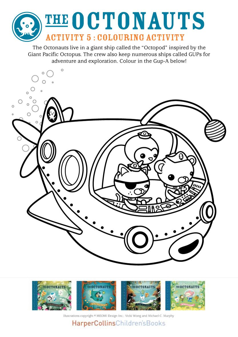 Octonauts act col 909495 (With images) Coloring books
