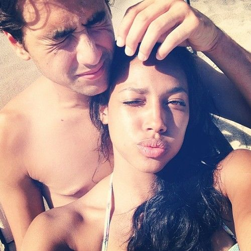 Kylie Bunbury (Lacey) and her real life love Ashton Moio (Rico) in Hawaii #Twisted..'... I would have never guessed it lol