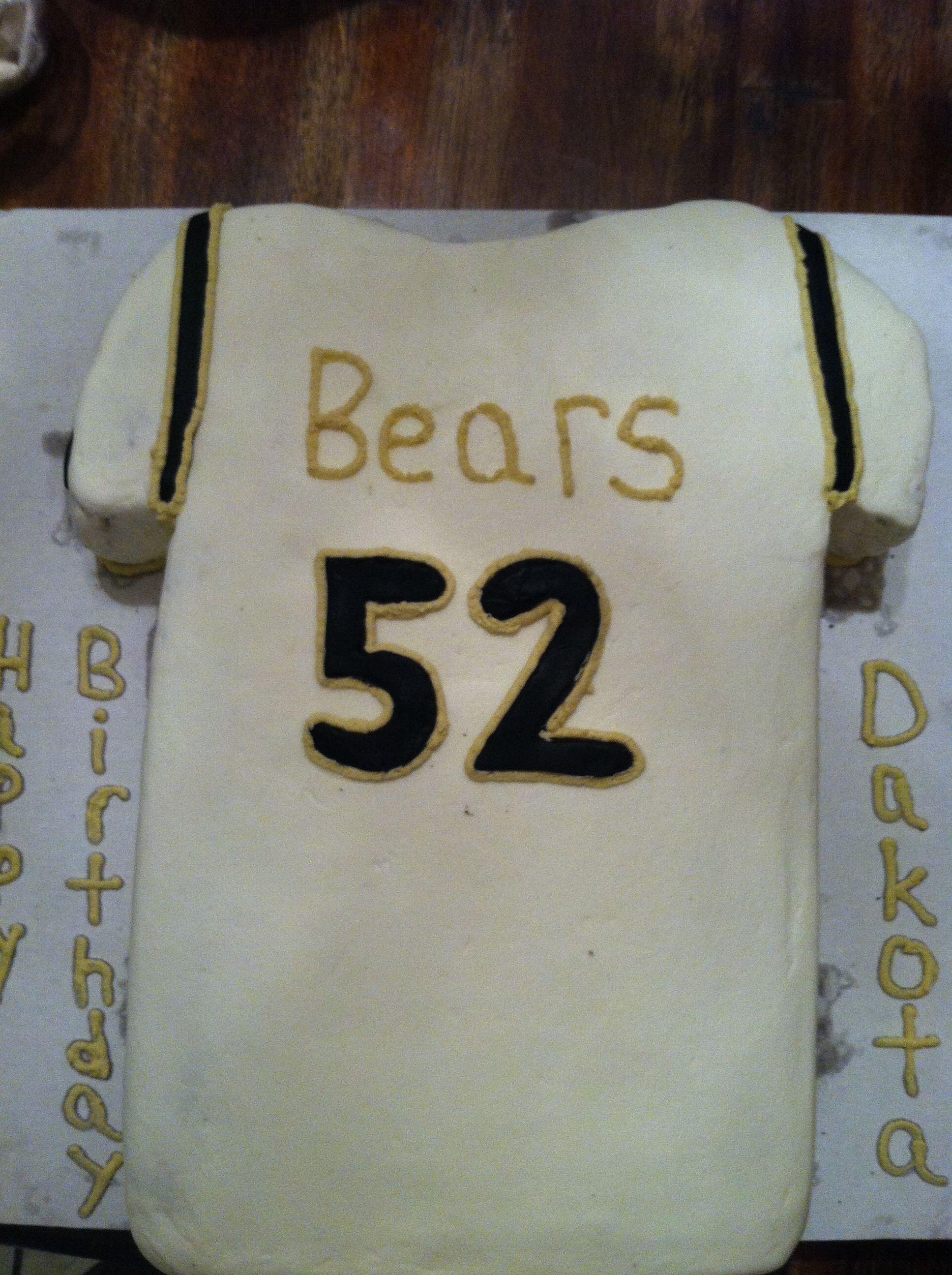 Football jersey sheet cake