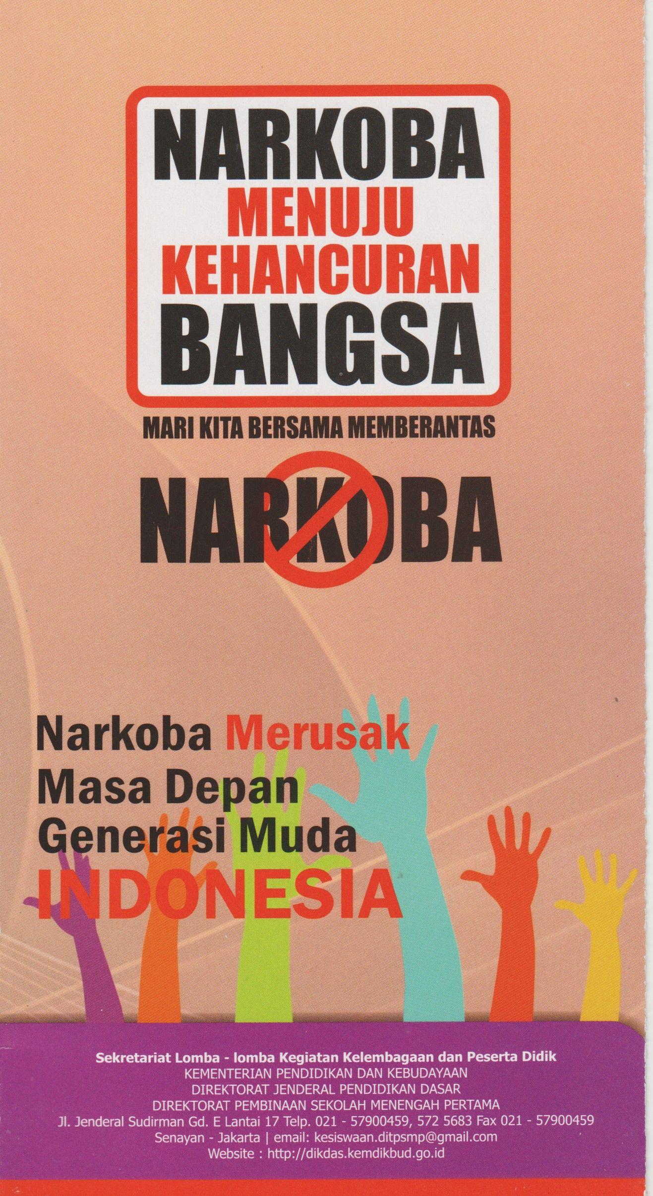 Risultati immagini per contoh poster narkoba Spanduk