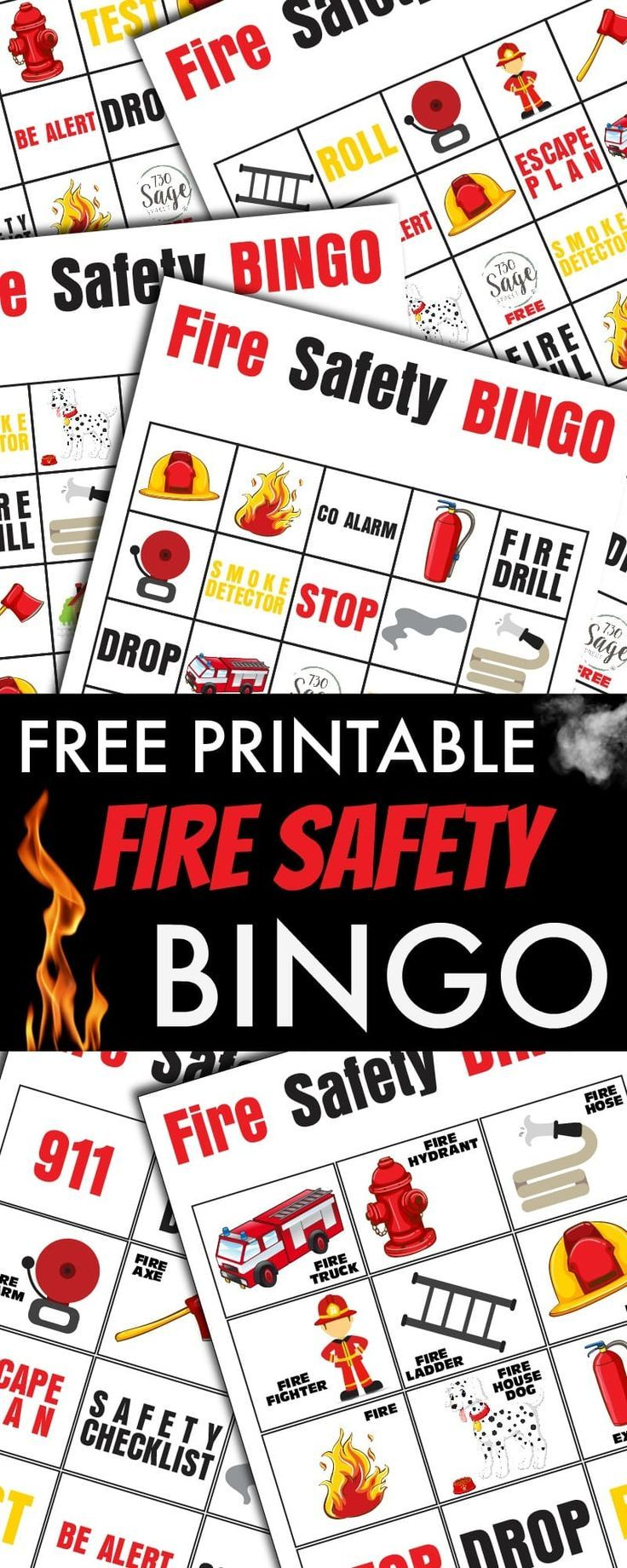 Fire Safety Bingo October is Fire Prevention Month